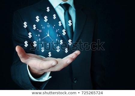 reloj · palabras · blanco · oficina · dinero - foto stock © kbuntu