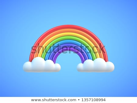 3D regenboog mooie witte voorjaar licht Stockfoto © FransysMaslo