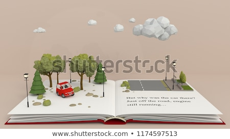 Pop up livre illustration Kid Photo stock © lenm