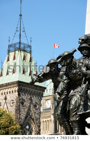 Detail of National War Memorial and Parliament of Canada, Ottawa stock photo © aladin66