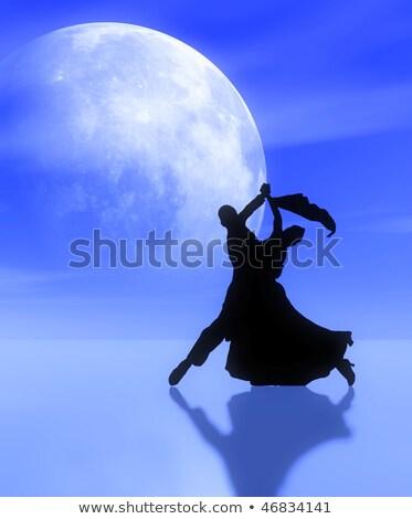 Dança par luar mulher música homem Foto stock © Paha_L