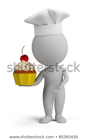 3d small people - confectioner with cupcake stock photo © AnatolyM