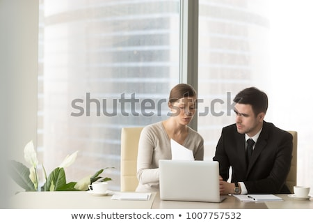 Financial adviser business lady. stock photo © Kurhan
