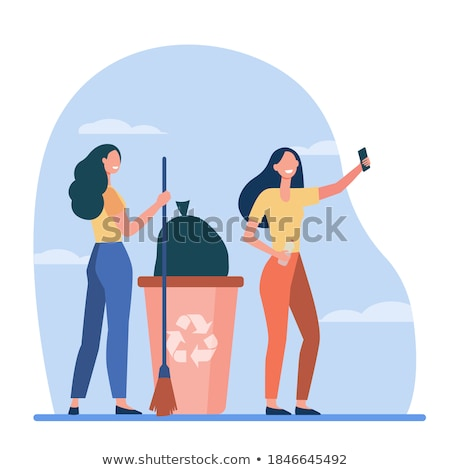 Young woman taking out the recycling Stock photo © photography33