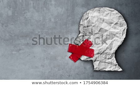 Censura uomo bloccato bocca illustrazione 3d sicurezza Foto d'archivio © drizzd