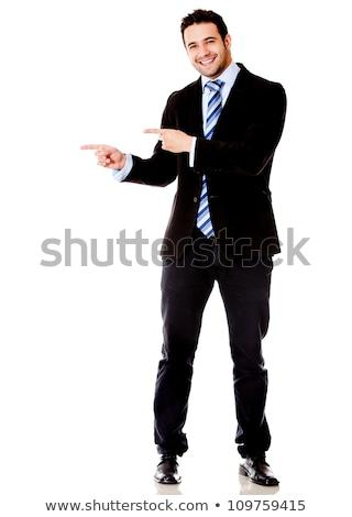 Сток-фото: Hispanic · бизнесмен · указывая · выстрел · корпоративного · профессиональных