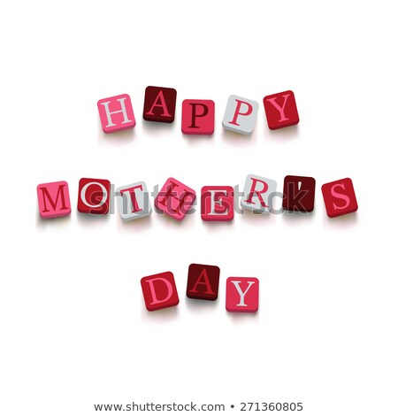 mothers day in 3d cubes stock photo © marinini