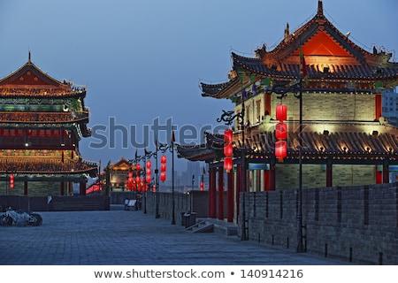 illuminated city wall of Xian Stock photo © prill
