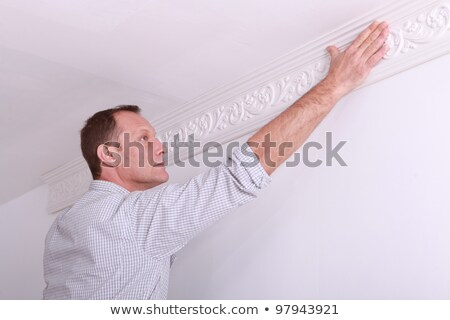 portrait of a man laying a frieze stock photo © photography33
