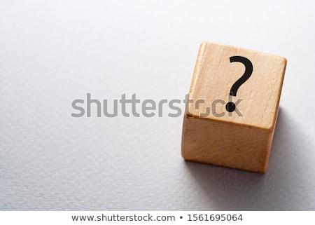 質問 · サイコロ · シンボル · サポート · 赤 - ストックフォト © johanh