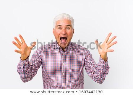 Surpreendido homem negócio escritório mãos Foto stock © photography33