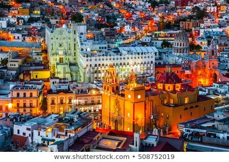 Colorful houses on the hills Guanajuato Mexico Stock photo © emattil