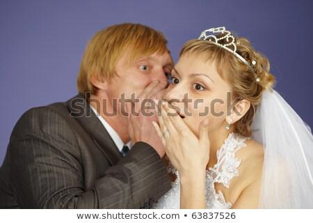 Groom tells bride amazing news Stock photo © pzaxe