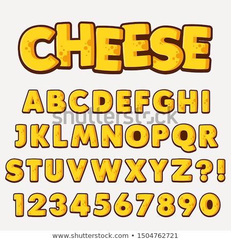 cheese font stock photo © fixer00