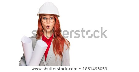 scared female builder stock photo © photography33
