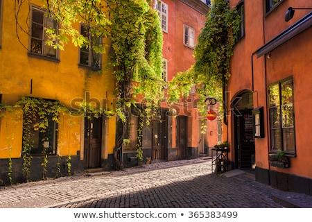 Sztokholm starówka widoku wody lata Zdjęcia stock © Estea