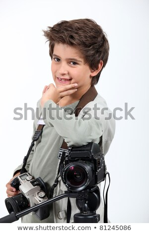 Little boy dressed as cameraman Stock photo © photography33