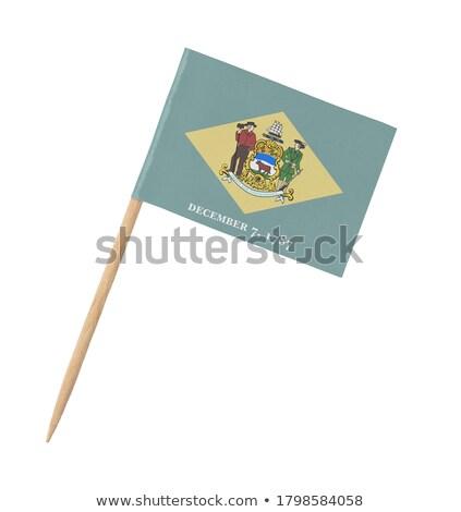minyatür · bayrak · Delaware · yalıtılmış · toplantı - stok fotoğraf © bosphorus