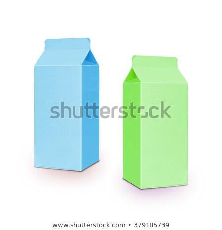 blue milk box per half liter isolated on white stock photo © shutswis