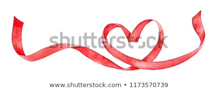 Rood liefde hart lint poster abstract Stockfoto © krabata