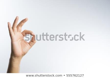 OK hand sign isolate on white Stock photo © oly5