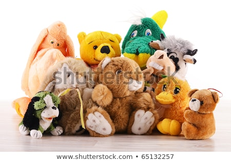 Soft toy girl and dog Stock photo © Givaga