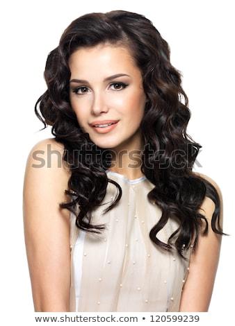 Сток-фото: фото · красивая · женщина · белые · волосы · портрет · красивой · футуристический