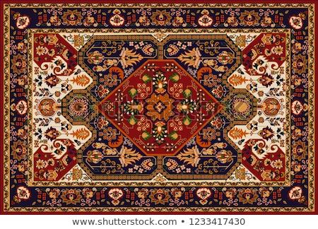 türk · halı · arka · plan · sanat · kırmızı · Asya - stok fotoğraf © mikko