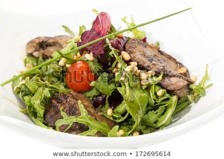 Gurme salata karaciğer tavşan taze sebze Stok fotoğraf © doupix