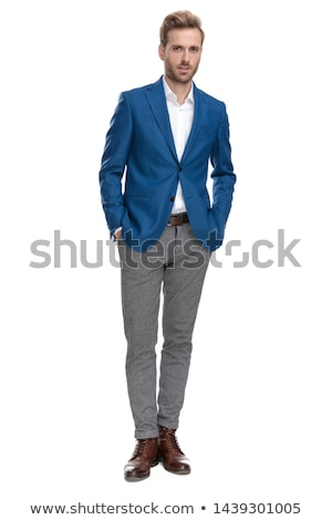 casual man with both hands in pockets stock photo © feedough