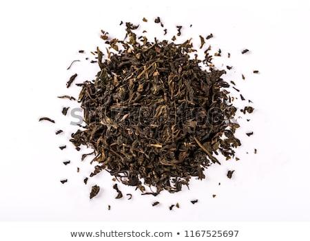 черный · чай · ложку · индийской · древесины · завода - Сток-фото © maisicon
