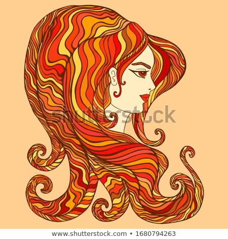 炎のような 女性 実例 顔 サングラス 燃えるような ストックフォト © ArenaCreative