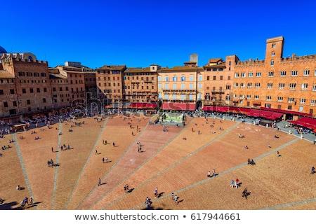 merkezi · kare · Toskana · İtalya · şehir · manzara - stok fotoğraf © anshar