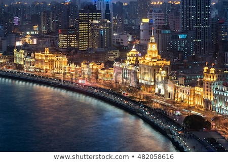 old european heritage building on the bund in shanghai china Stock photo © travelphotography