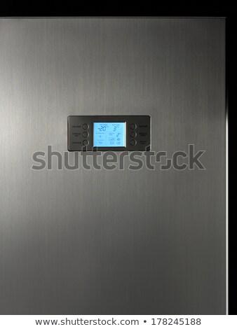 modern · hűtőszekrény · kirakat · irányítópanel · közelkép · lehetőségek - stock fotó © ABBPhoto