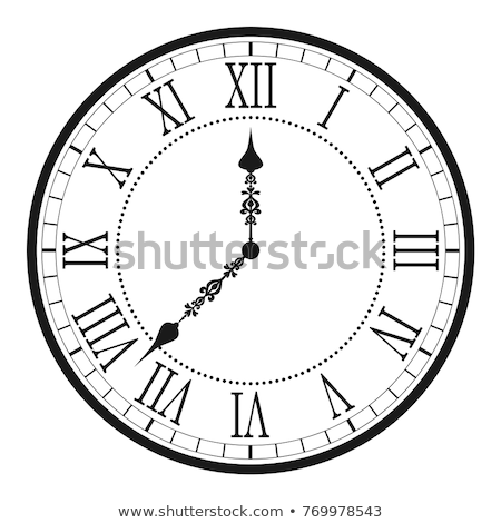 vector illustration of clock face stock photo © freesoulproduction