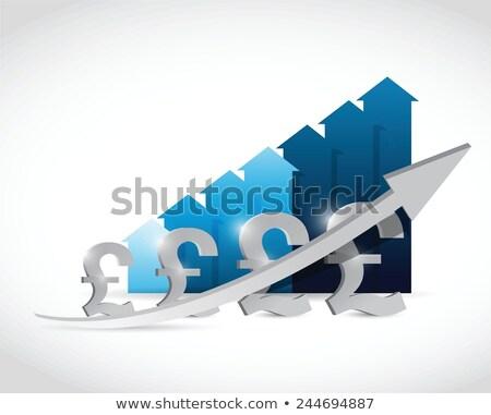 британский фунт графа иллюстрация дизайна белый Сток-фото © alexmillos