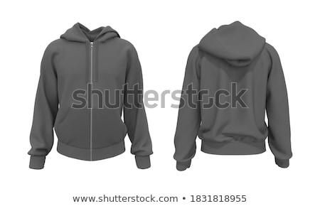 Stock fotó: Kapucnis · kabát · portré · gyönyörű · nő · visel · tél