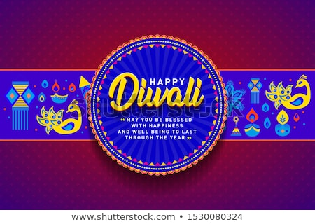 beautiful decoration happy diwali diya festival crackers brochur stock photo © bharat