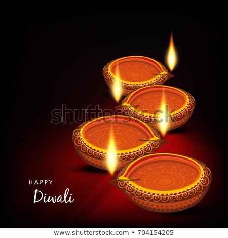 Beautiful diwali rangoli colorful set of headers vector design Stock photo © bharat