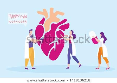 Batida de coração pílulas coração saúde médico fundo Foto stock © Stephanie_Zieber