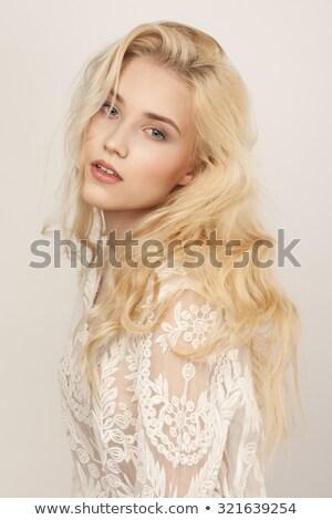 Beautiful glamorous blond woman Stock photo © stryjek