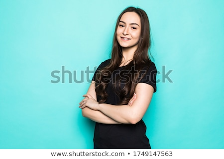 portrait · belle · jeunes · mode · femme · permanent - photo stock © lithian
