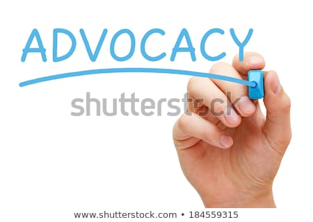Advocacy Blue Marker Stock photo © ivelin
