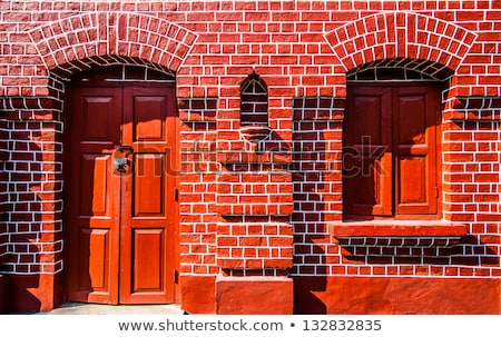 old brick walls of historic houses in typical structure stock photo © meinzahn