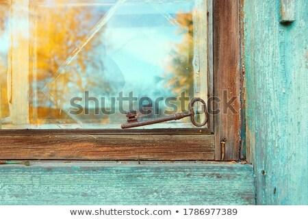 eski · Metal · anahtar · kilitlemek · beyaz · imzalamak - stok fotoğraf © Ralko