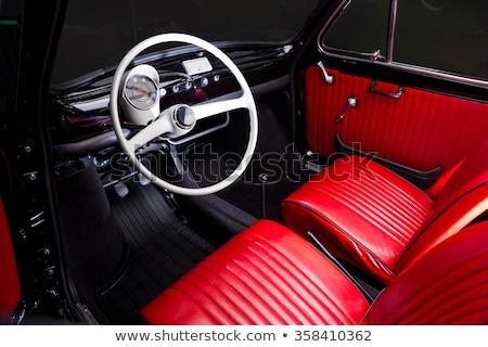 Foto d'archivio: Vintage Car Interior
