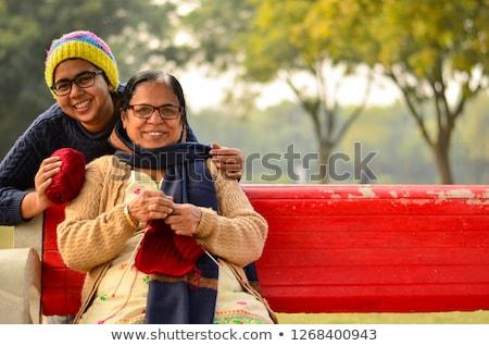 Fiatal anya lánygyermek tél vakáció nő Stock fotó © monkey_business