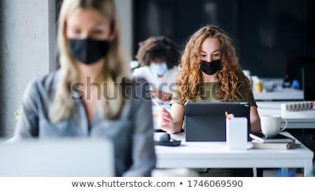 üzletemberek hát izolált stúdiófelvétel üzletember üzletasszony Stock fotó © dgilder