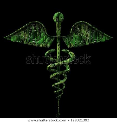 Digitális orvosi alakú elektronikus áramkör tükröződő Stock fotó © grasycho